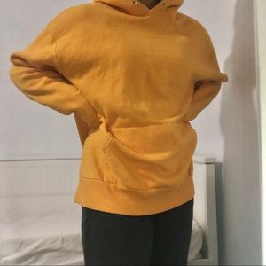 yellow oversized hoodie :) - size L